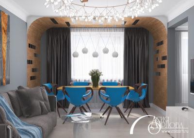 Дизайн интерьера 2х-комнатной квартиры (Москва)