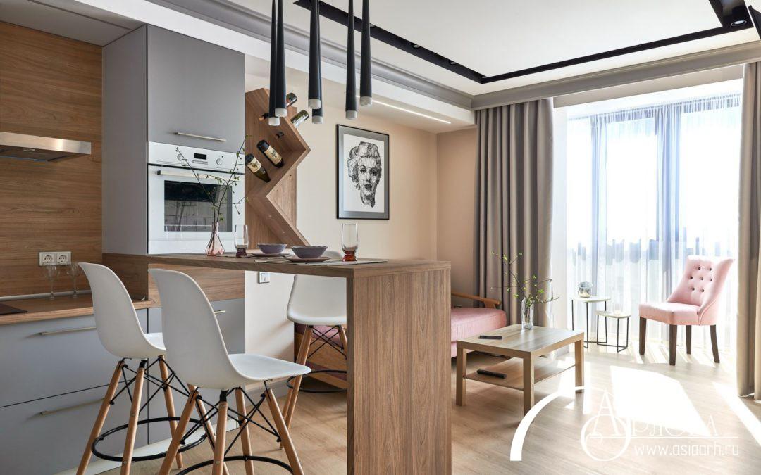 Интерьер квартиры в г.Калининграде ЖК «Цветной бульвар»